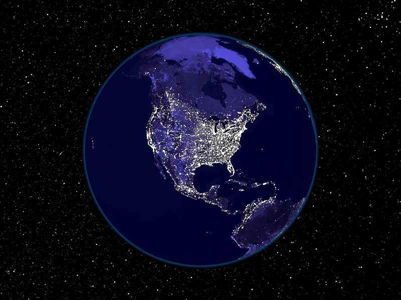 Earth at Night, a Fold ejjel